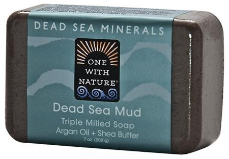 Dead Sea Bar Mud-Slt-She 1x3/4 oz Each by ONE WITH NATURE