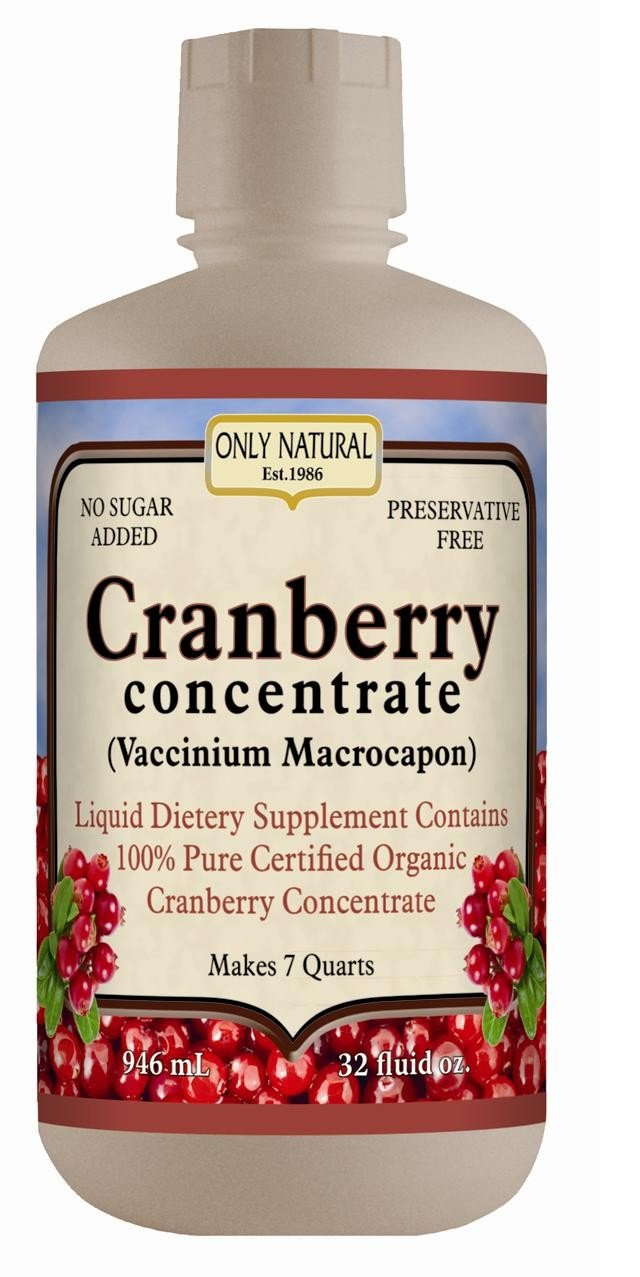 Image 0 of Juice Cranberry Organic(95%+) 1x32 Fluid oz Each by ONLY NATURAL
