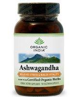 Ashwagandha Organic(70%+) 1x90 VCap Each by ORGANIC INDIA