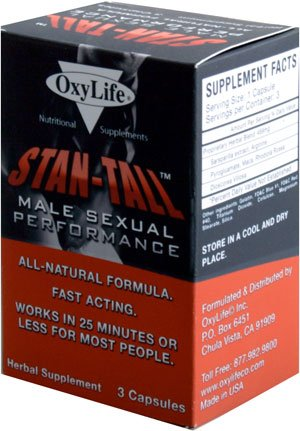 Image 0 of Stan Tall Male Sex Perfmn 1x3 Cap Each by OXYLIFE PRODUCTS