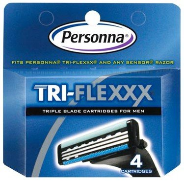 Triflx Mens Cartridges 1x4 count Each by PERSONNA
