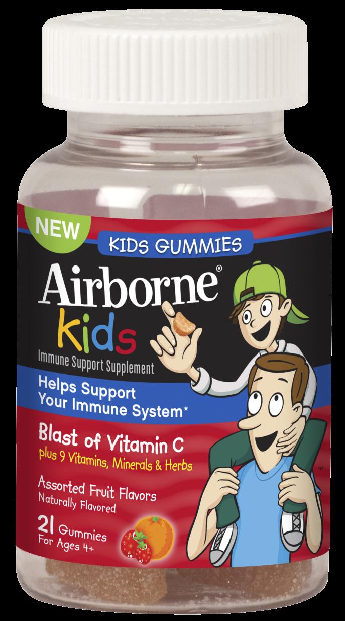 Airborne Kids Berry flavor Gummies 21 Ct