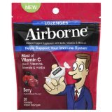Airborne Immune Support Supplement With Berry Flavor 20 Lozenges