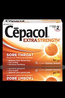 Image 0 of Cepacol Extra Strength SoreThroat Honey Lemon 16 Ct
