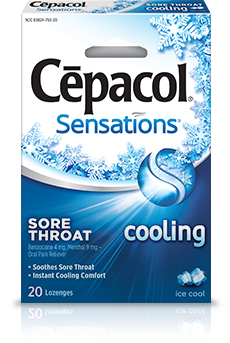 Image 0 of Cepacol Sensation Cool Ice 20 Lozenges