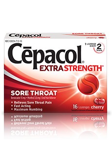 Image 0 of Cepacol Extra Strength 16 Cherry Lozenges