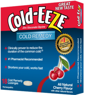 Cold-Eeze Bag Lozanges Great Tasting All Natural Cherry Flavor 18 Ct.