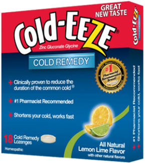Cold-Eeze Bag All Natural Citrus (Lemon Lime) Flavor 18 Ct