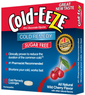 Cold-Eeze Bag Sugar Free Wild Cherry Flavor Lozenges 18 Ct