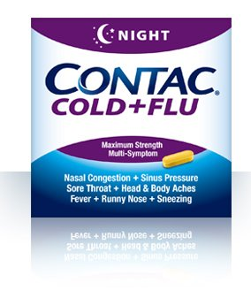 Contac Cold+Flu Night Restful Relief Maximum Strength 24 Caps