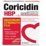 Corcidin HBP Maximum Strength Flu 20 Tabs