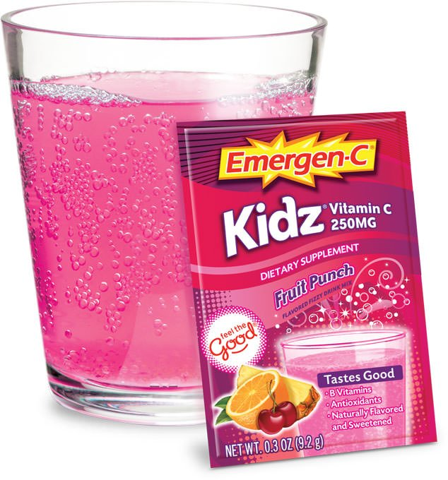 Emergen-C Kidz Fruit Punch Powder 10 Ct