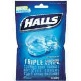 Halls Bag Ice Peppermint 30 Ct