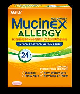 Mucinex 24 Hour Allergy Relief 180 Mg 10 Tabs
