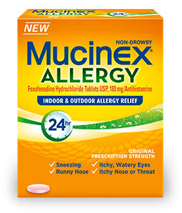 Image 0 of Mucinex 24 Hour Allergy Remover 180 MG 5 Tabs