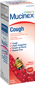 Mucinex Child Expectorant Cough Relief Cherry 4 Oz