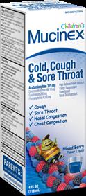 Mucinex Child Maximum Strength Cold Cough & Sore Throat Berry Flavor 4 Oz