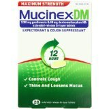 Mucinex Dm Maximum Strength 12 Hour Expectorant Cough 28 Tablets.