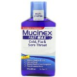 Mucinex Fast Max Adult Cold Flu & Sore Throat Liquid 9 Oz