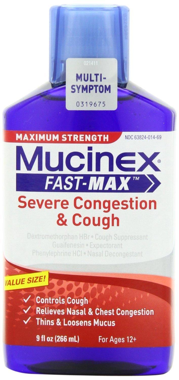 Mucinex Fast Max Adult Severe Congestion & Cough Liquid Oz
