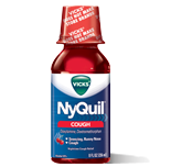 Image 2 of Nyquil Cough Reliever Cherry Flavor Liquid 12 Oz
