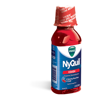 Image 0 of Nyquil Cough Reliever Syrup Cherry Flavor 8 Oz
