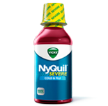 Image 0 of Nyquil Severe Cold & Flu Relief Liquid Berry Flavore 12 Oz