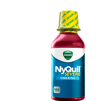 Image 0 of Nyquil Severe Cold & Flu Liquid Berry Flavor 8 Oz