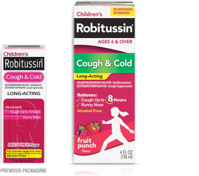 Image 0 of Robitussin Children's Cough & Cold Long Acting Syrup 4 Oz