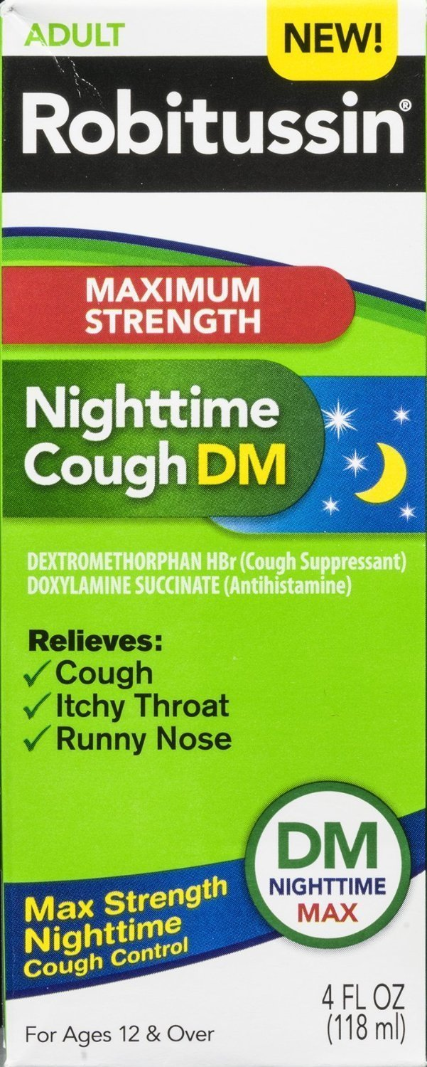 Image 0 of Robitussin Maximum Strength Strength Nighttime Dm Cough 4 Oz