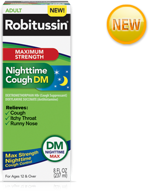 Image 0 of Robitussin Maximum Strength Nighttime Cough Dm 8 Oz