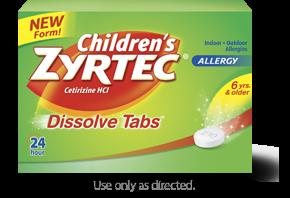 Zyrtec 24 Hour Child Dissolve Citrus 12 Tablets