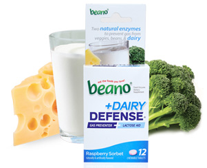 Image 0 of Beano Dairy Defense Raspberry Flavor 12 Tablets