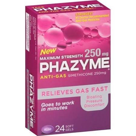 Phazyme Maximum 250 Mg 24 Soft-Gels