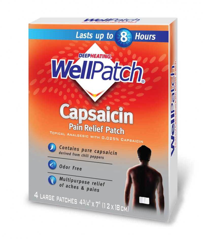 Wellpatch Natural Capsaicin Pain Relief 4 Patch
