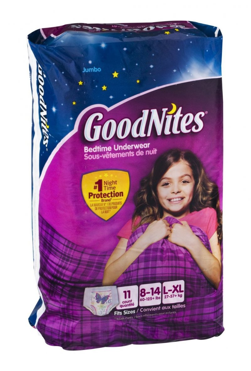 GoodNites Bedtime Underwear Girls L/Xl 4x11 Ct