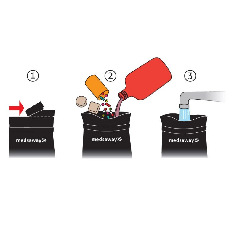 Image 1 of Medsaway Medication Disposal System (Each)