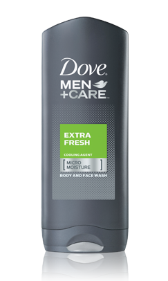 Dove Extra Care For Men Fresh Body & Face Wash 13.5 Oz
