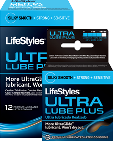 Image 0 of Lifestyle Ultra Lubricated Plus Condoms 3 Ct.