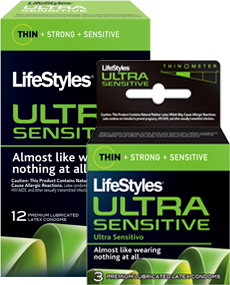 Image 0 of Lifestyle Ultra Sensitive Condoms 3 Ct.