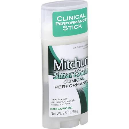 Image 0 of Mitchum Smart Solid Clinical Unscented Deodorant 2.5 Oz