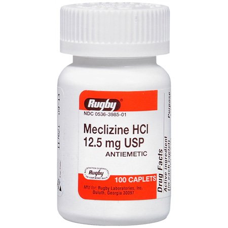 Meclizine Hcl 12.5 Mg 100 Caplets By Major Pharma