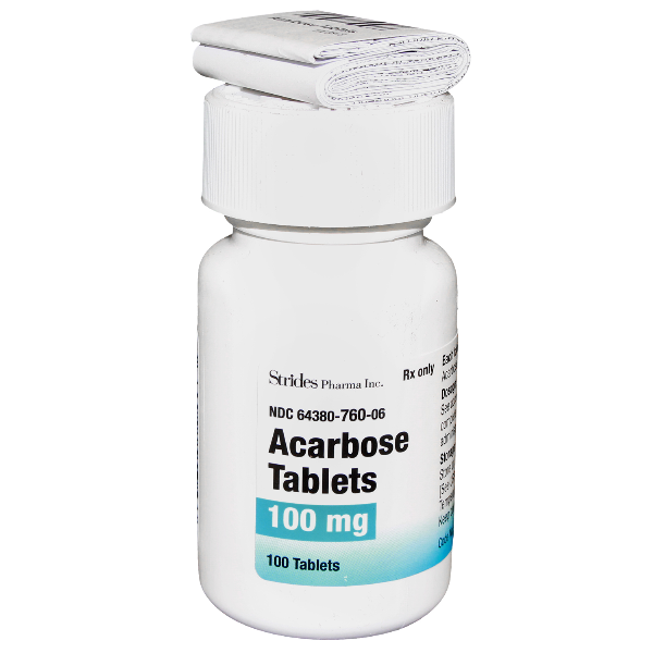 Acarbose 100Mg Tabs 100 By Strides Pharma