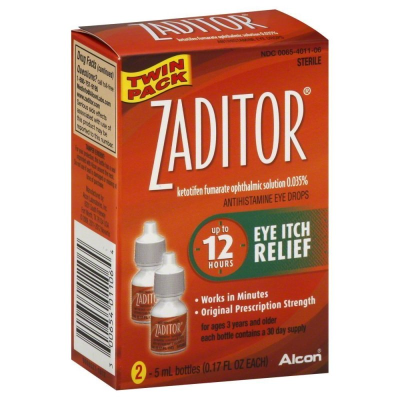Image 0 of Zaditor Eye Itch Relief Twin Pack 0.34 Oz