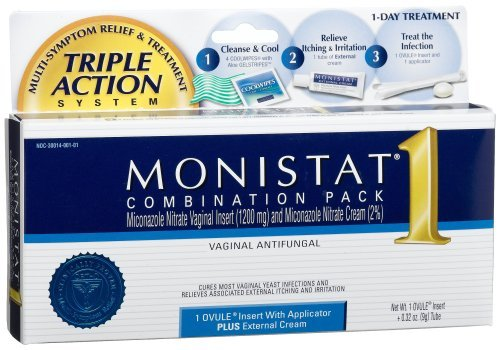 Monistat 1 Triple Action Suppository 0.32 Oz