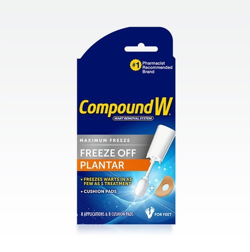 Compound W Freeze Off Plantar Wart Removers Pads & Liquid 8 Ct