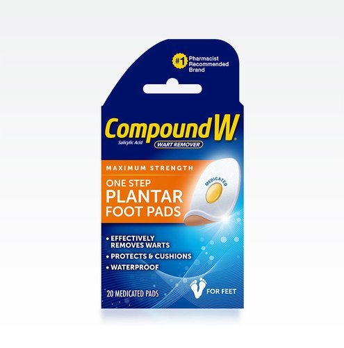 Image 0 of Compound W One Step Wart Remover Pads For Feet 20 Ct.