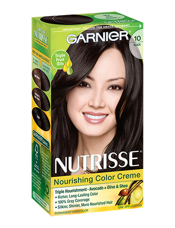 Image 0 of Garnier Nutrisse Permanent Hair Color 10 Black Licorice