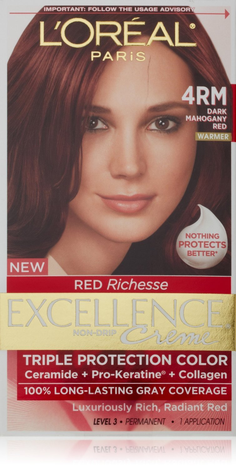 Loreal Excellence Permanent Hair Color 4rm Dark Mahogany