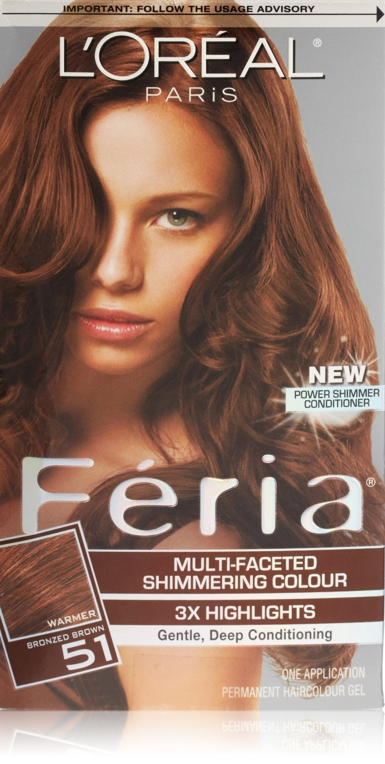 Image 0 of Loreal Feria Permanent Hair Color 51 Brazilian Brown